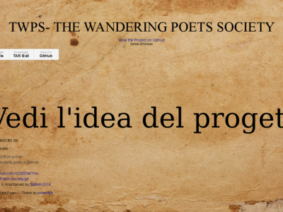 Homepage di The Wandering Poets Society